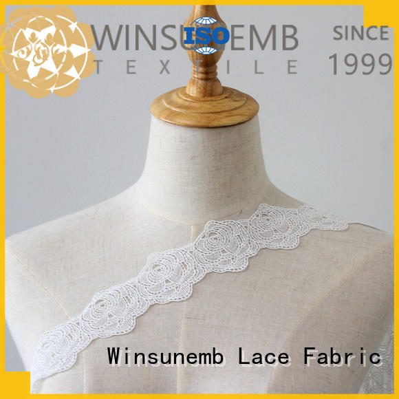 Winsunemb lace ribbon for manufacturer for DIY