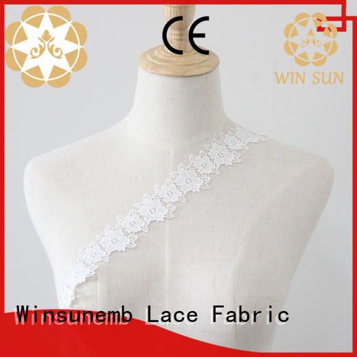 Winsunemb colorful Embroidery Lace Trimming bulk production for lingerie