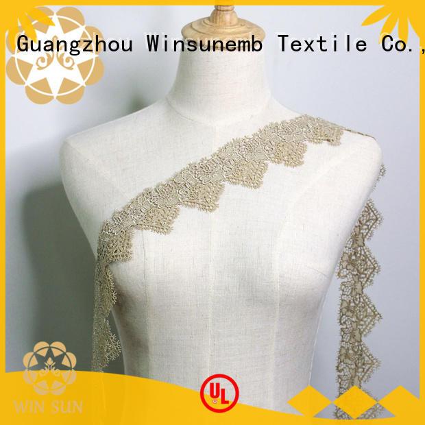 Winsunemb soft lace fabric shop now for fashion garment