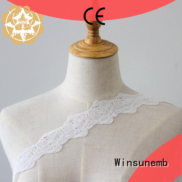 Winsunemb leaves lace trim by the yard bulk production for lingerie