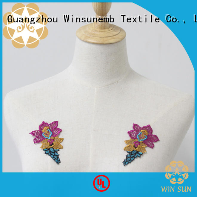 attractive lace motif accessories for manufacturer for clothing collars