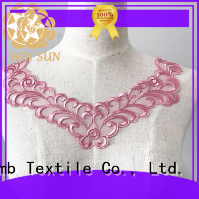 superior lace neckline flower factory price for clothing collars