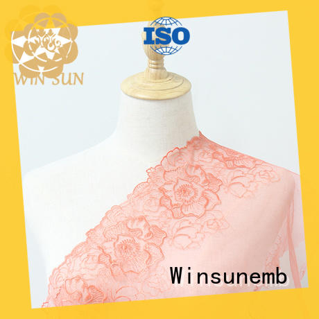 Winsunemb elegant lace fabric wholesale for apparel