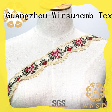 Winsunemb high-end stretch lace trim for manufacturer for fashion garment