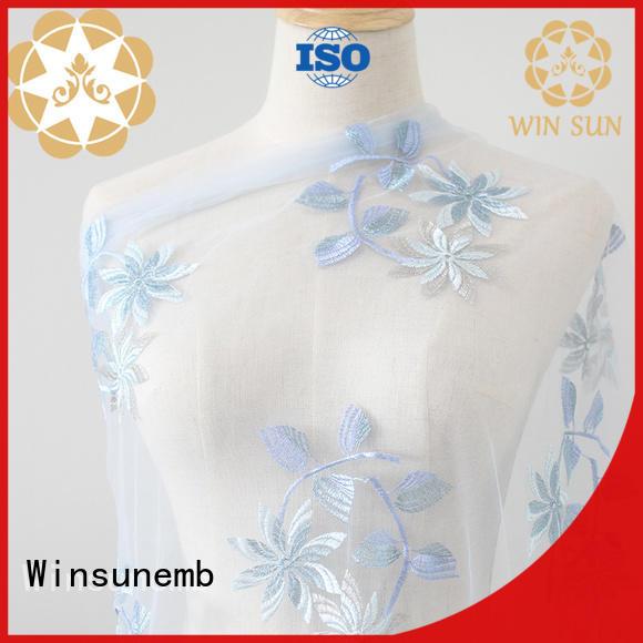 Winsunemb elegant luxury lace in china for apparel