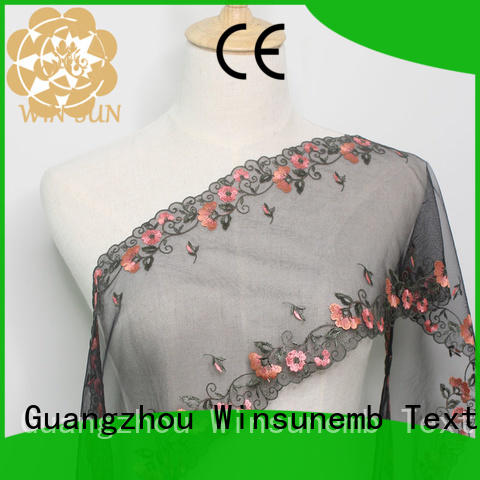 Winsunemb colorful lace fabric online for manufacturer for apparel