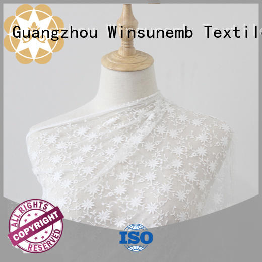 Winsunemb gowns stretch lace fabric order now for underwear