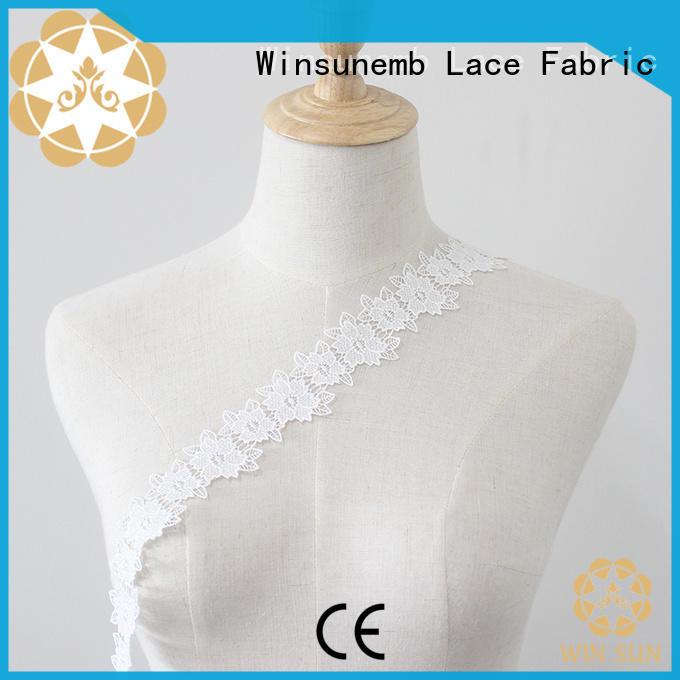 Winsunemb popular lace trim order now for fashion garment