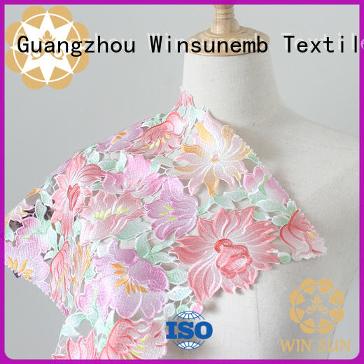 Winsunemb embroidery Printed fabric for manufacturer for sofa