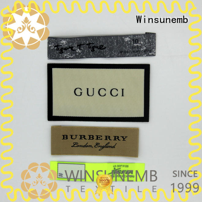 Winsunemb brand fabric labels directly sale for clothes