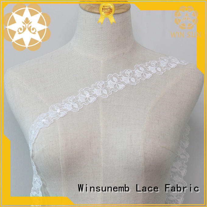 Winsunemb delicate lace fabric order now for fashion garment