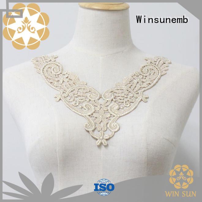 attractive lace neckline motif factory price for Lingerie