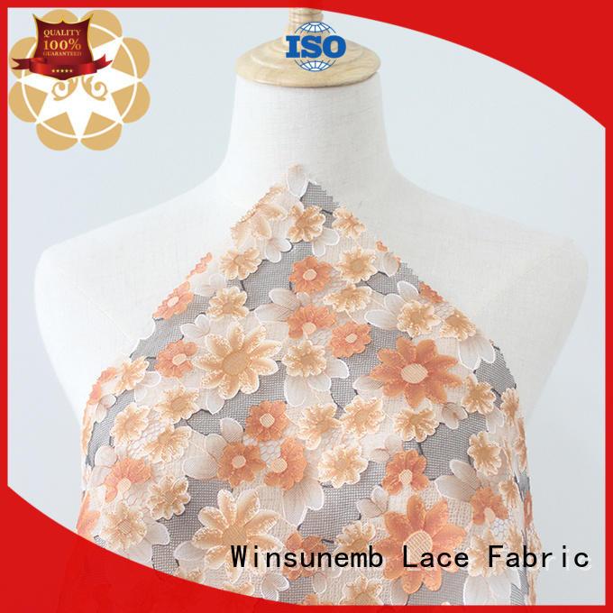 Winsunemb fashion design custom fabric printing garment for cloth