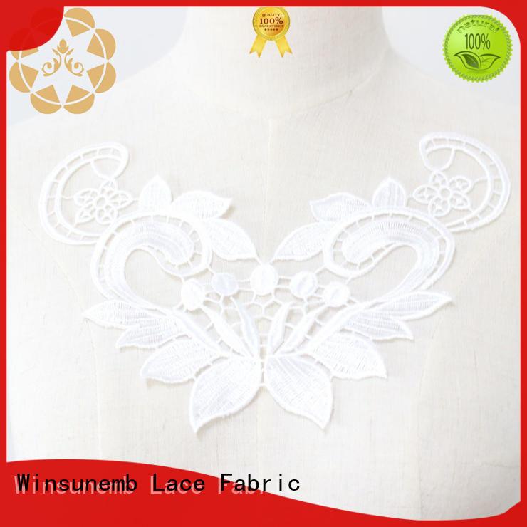 Quality Winsunemb Brand neckline embroidered lace neckline