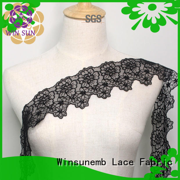 white hollow cotton Embroidery Lace Trimming Winsunemb Brand company