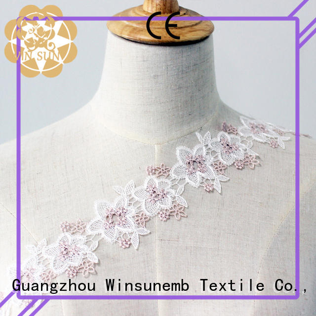 Winsunemb soft Embroidery Lace Trimming shop now for fashion garment