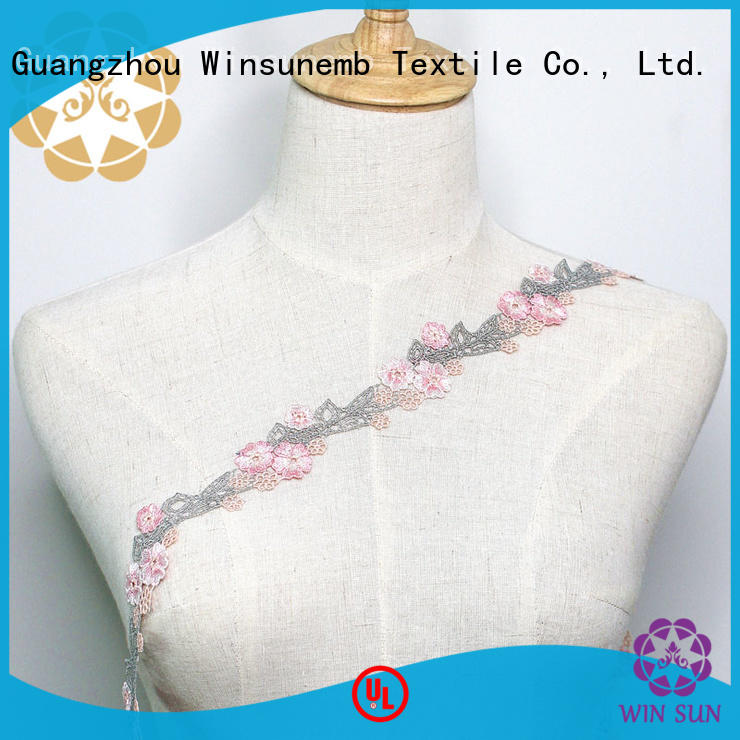 Quality Winsunemb Brand stretch lace childrens