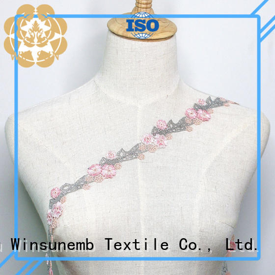 Winsunemb high-end stretch lace trim for bedclothes