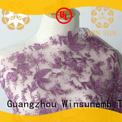 Winsunemb bright stretch lace fabric for underwear