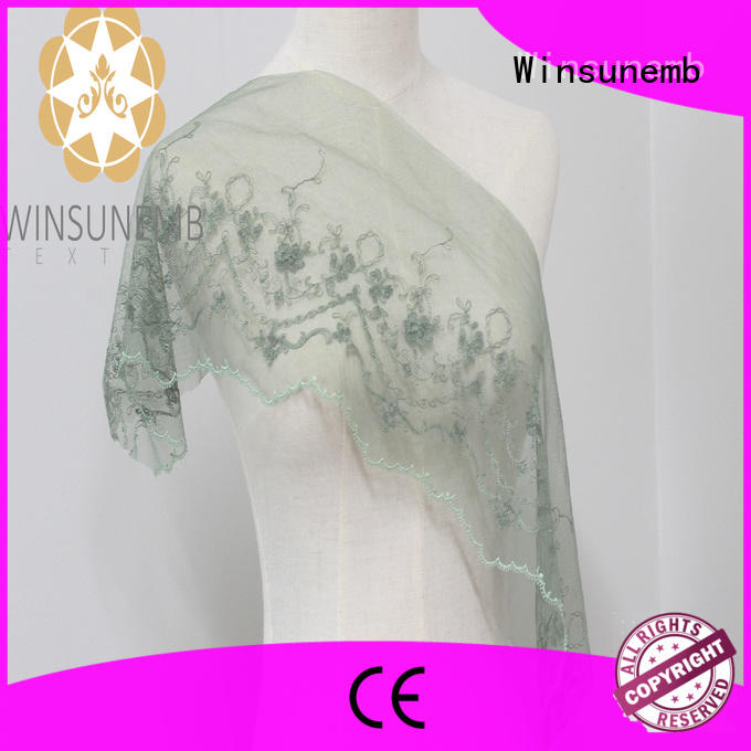 Winsunemb popular eyelet lace by for bedclothes