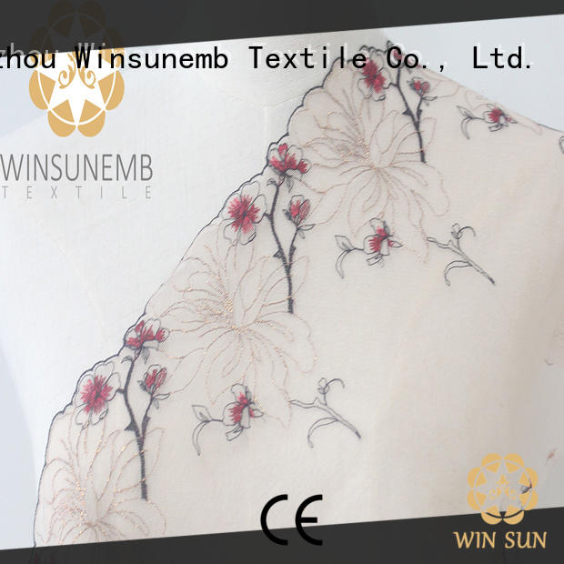 Winsunemb exquisite lace trim by the yard producer for lingerie
