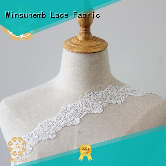 Winsunemb sofa stretch lace fabric order now for fashion garment