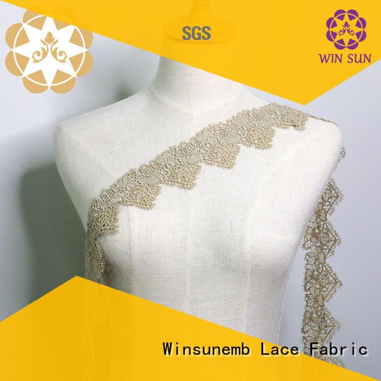white garment stretch lace chemical eyelet Winsunemb Brand