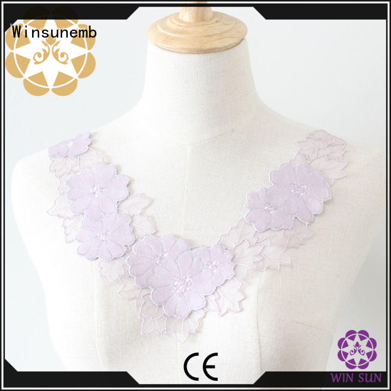 fashion design embroidery lace motif for manufacturer for chest corsage