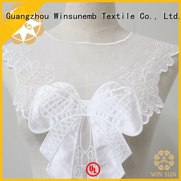 Winsunemb price embroidery lace motif wholesale for Lingerie