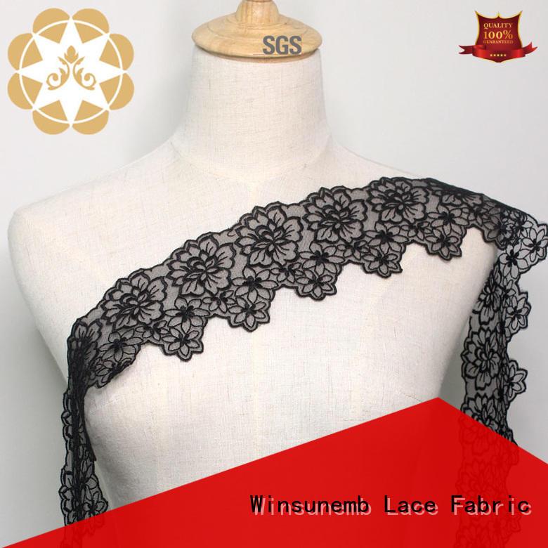 high-end lace fabric wholesale shop now for lingerie Winsunemb