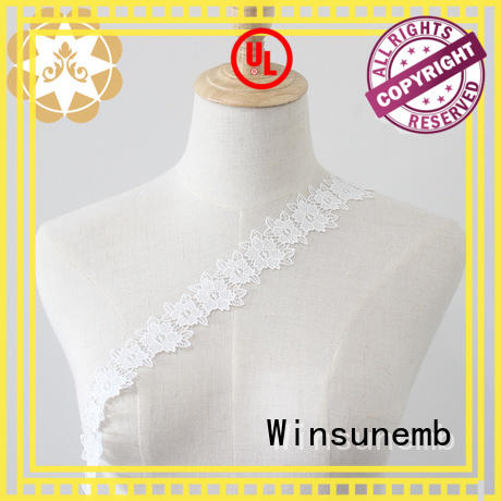 Winsunemb popular lace fabric by the yard crafts for DIY