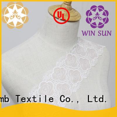 cotton Custom garment Embroidery Lace Trimming design Winsunemb