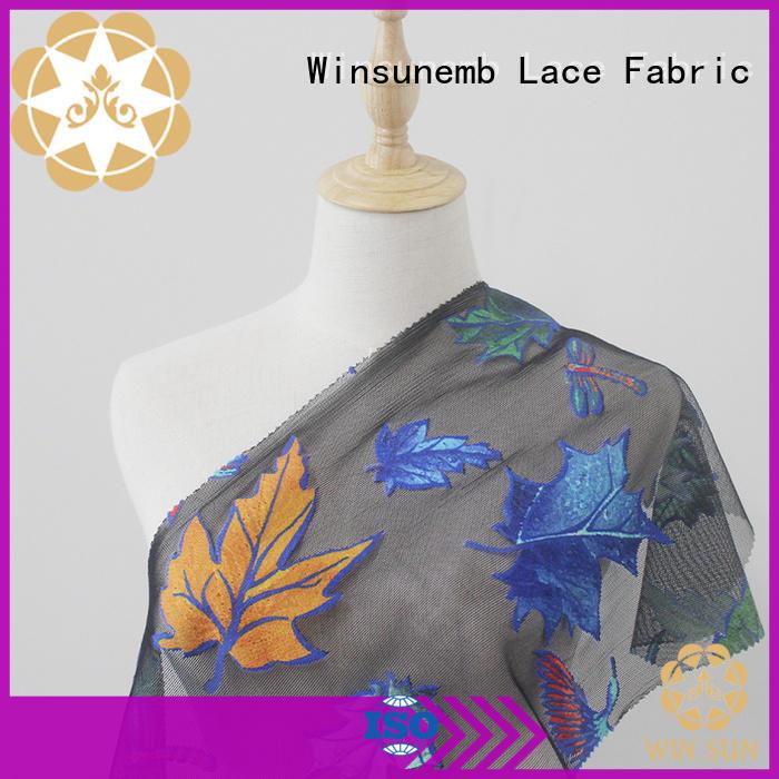 Winsunemb elegant Printed fabric bulk production for auto fabric