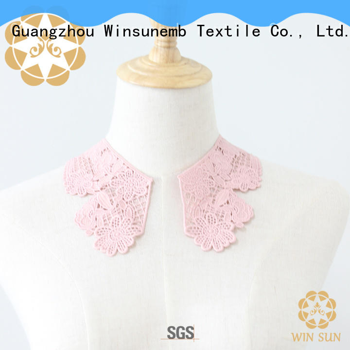 Winsunemb cutwork lace motif in china for Lingerie