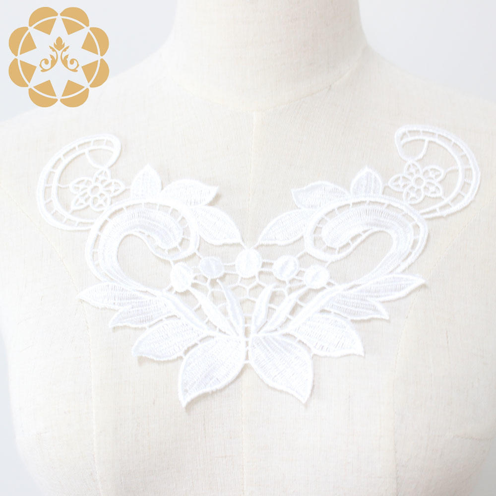 Embroidery Lace Flower Applique For Dress Patch Sewing Craft Decoration-2