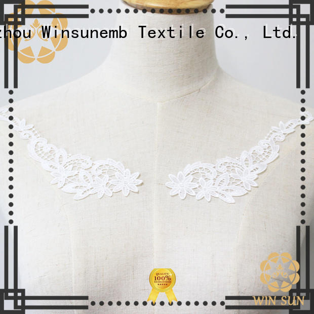 Winsunemb fashion design embroidery lace motif in china for Lingerie