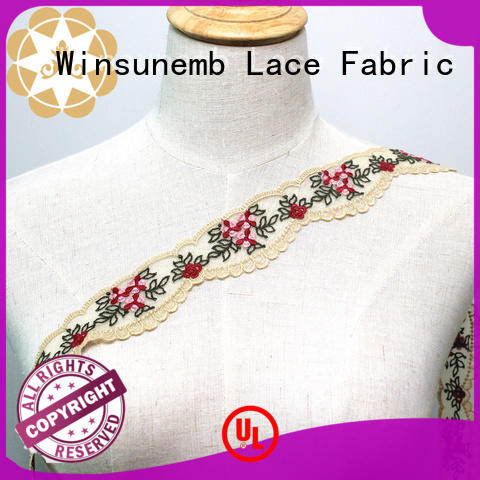 Wholesale lingerie Embroidery Lace Trimming Winsunemb Brand