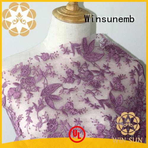 Winsunemb clothingaccessories lace fabric producer for underwear
