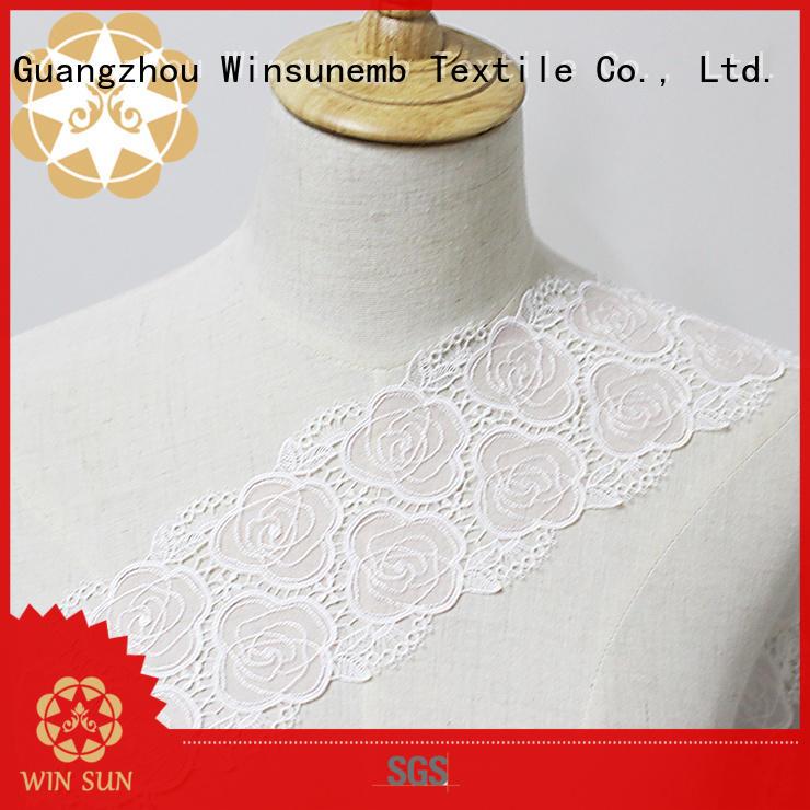 Winsunemb iljimaesoft stretch lace fabric producer for DIY