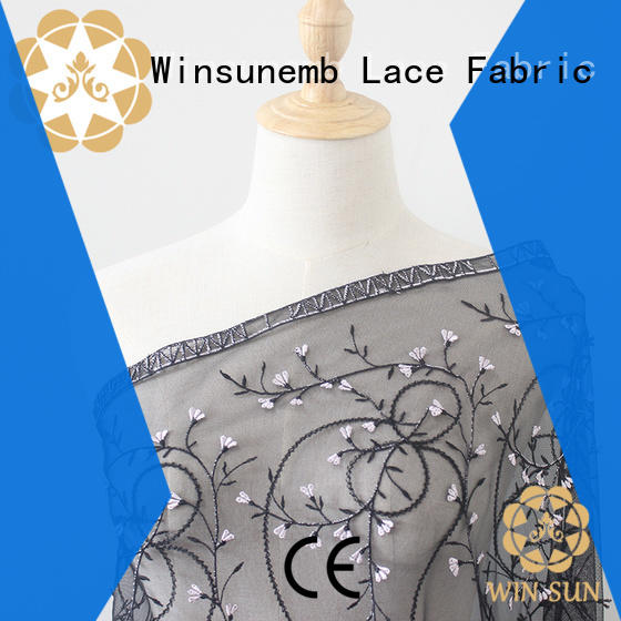 Winsunemb soft lace material grab now for apparel