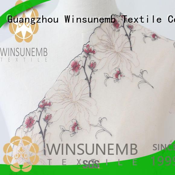 hook lace trim garment for lingerie Winsunemb