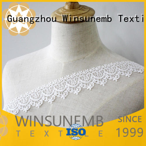 Wholesale cut cotton Embroidery Lace Trimming Winsunemb Brand