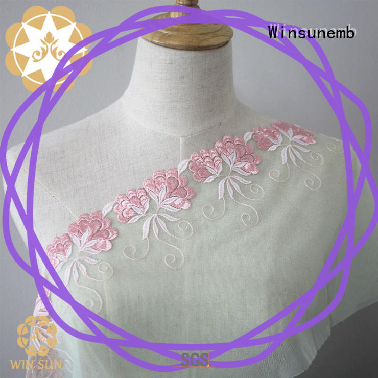Winsunemb different color guipure lace fabric bulk production for apparel