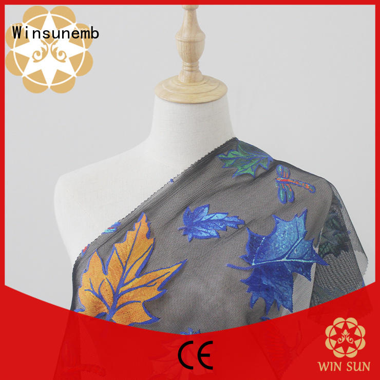 outstanding printed lace fabric many producer for cloth