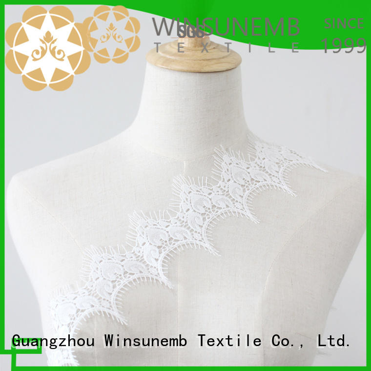eco-Friendly lace by the yard order now for fashion garment Winsunemb