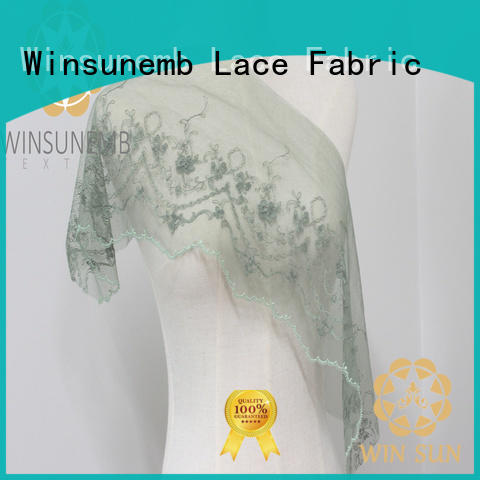 Winsunemb cording lace trim by the yard for manufacturer for fashion garment