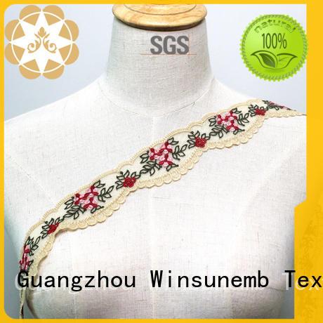 korea stretch lace trim crafts for lingerie Winsunemb