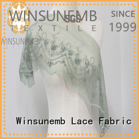 Winsunemb high-end elastic lace ribbon polyester for bedclothes