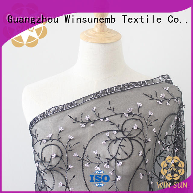 Winsunemb lace fabric online for manufacturer for underwear