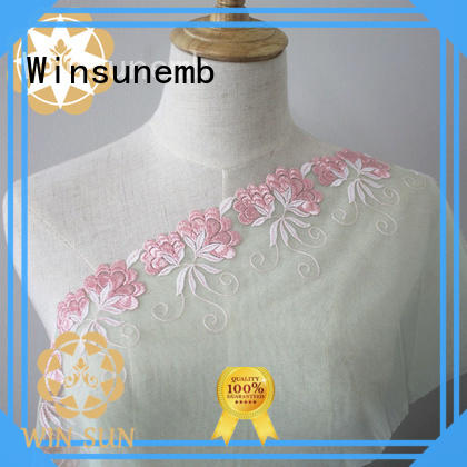 Winsunemb elegant lace fabric wholesale grab now for apparel
